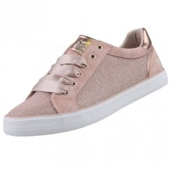 Mustang Silk Lace Shimmer Sneakers - Rose Pink
