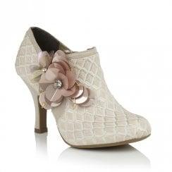 Ruby Shoo Electra Elegant High Heeled Ankle Shoe Boots - Light Pink