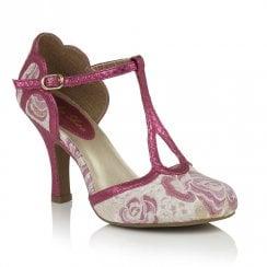 Ruby Shoo Polly  Court Shoes - Purple Fuchsia
