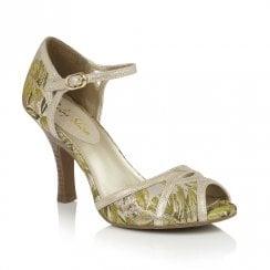 Ruby Shoo Elizza Elegant High Heel Sandals - Green/Gold