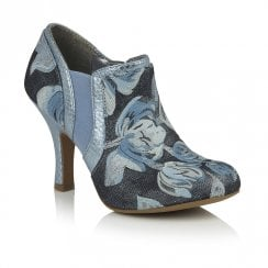 Ruby Shoo Juno High Heeled Elegant Ankle Shoe Boots - Sky Blue