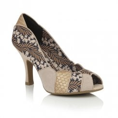 Ruby Shoo Matilda Peep Toe Court Shoes - Gold