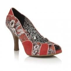 Ruby Shoo Matilda Peep Toe Court Shoes - Orange Red