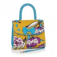 Ruby Shoo Santiago Clutch Handbag - Yellow Mustard