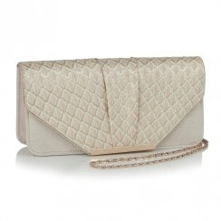 Ruby Shoo Tblisi Clutch Handbag - Light Pink/Beige