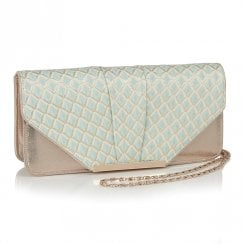 Ruby Shoo Tblisi Clutch Handbag - Sky Blue