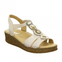 Ara Womens Marrakesch Low Wedge Sandals - Rose