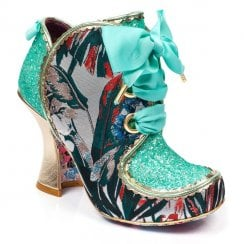 Irregular Choice Baroness Ribbon Laces Ankle Boots - Mint Multi