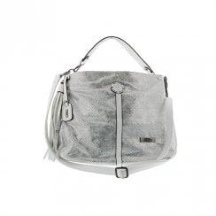 Rieker Tote Shopper Handbag - Silver Metallic H1435-90