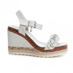 XTI Womens High Wedge Platform Sandals - Grey