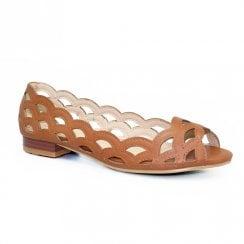 Lunar Devine Scallop Pattern Summer Pump Sandals - Tan