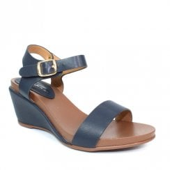 Lunar Rocco Summer Wedge Heeled Sandals - Blue