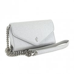Menbur Silver Purse Clutch Bag