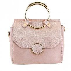 Menbur Suede Nude Rose Handbag