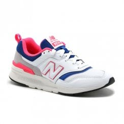 New Balance Men's Classics 997H Sneakers - White/Blue/Fuschia