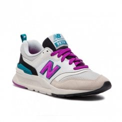 New Balance Women's Classics 997 Sneakers - White/Purple/Black