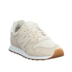 New Balance Womens 373 Lace Up Suede Sneakers - Beige