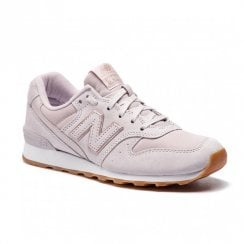 New Balance Womens 996 Lace Up Suede Sneakers - Pink/Lavender