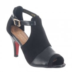Kate Appleby Margate Heeled Suede Sandals - Black