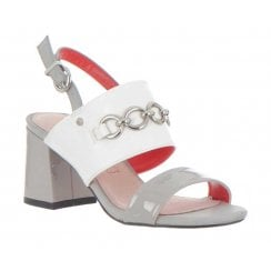 Kate Appleby Woodbridge Block Heeled Sandals - Grey