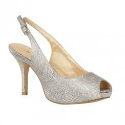 Lotus Adora Sling-back Platform Sandal High Heels - Silver