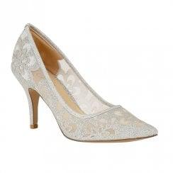 Lotus Glitz Sparkle Slip On Court Shoes -Silver