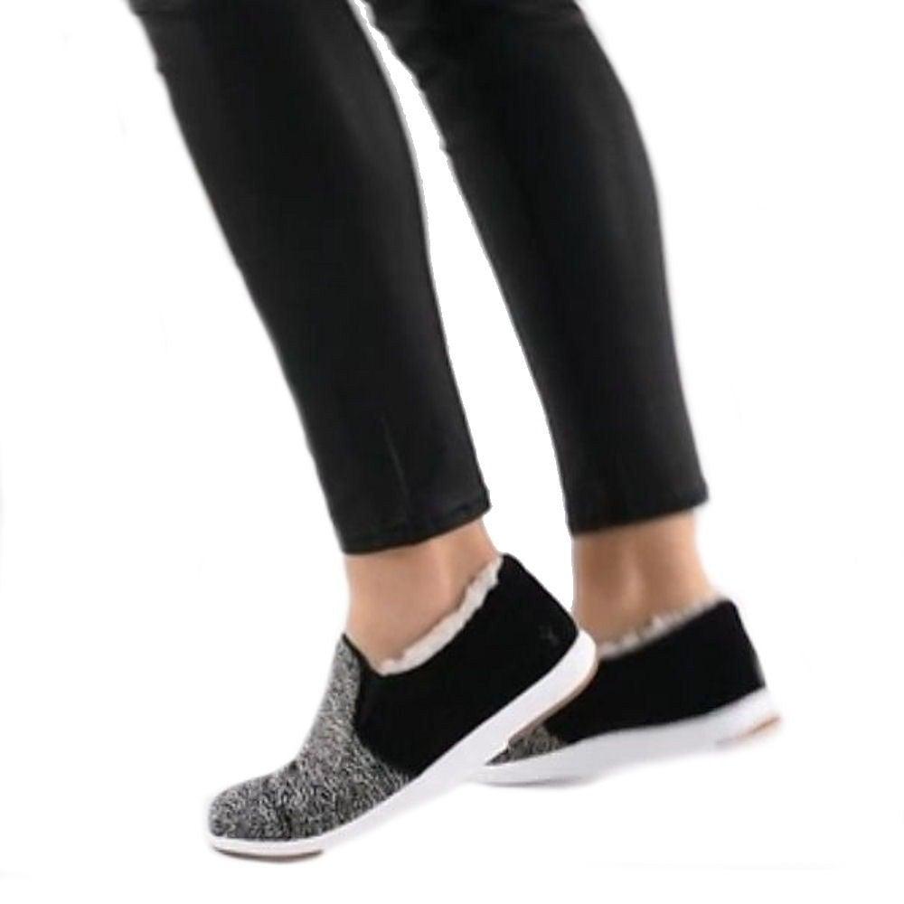 4fc259794c85 ... Emu Australia Emu Brunswick Fur Spot Womens Sneakers - Black White -  W11374