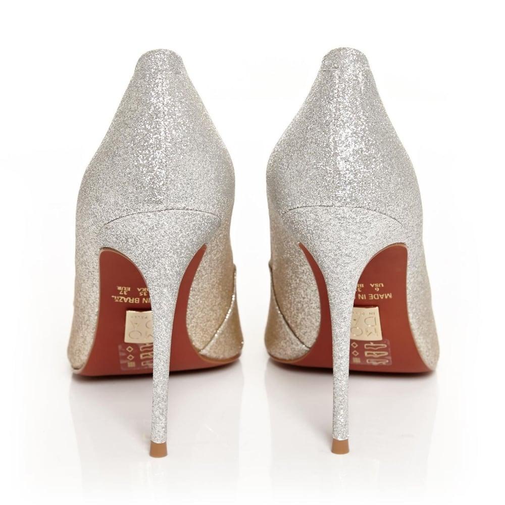 b2afdbfade69 ... Moda In Pelle CRISTINA Champagne Glitter Ombre Court Shoe