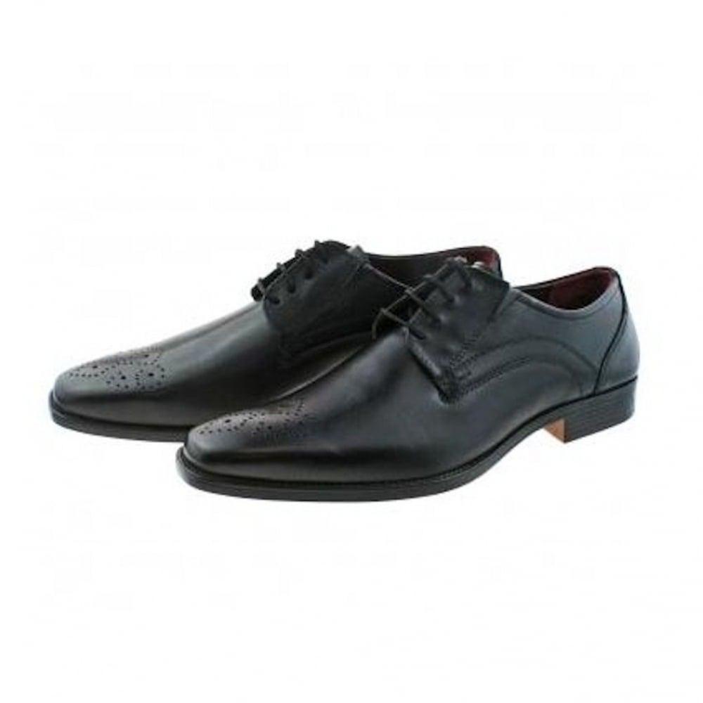 5e738db08c27 Lotus Mens Birkdale Black Leather Lace Up Smart Shoes - 80066