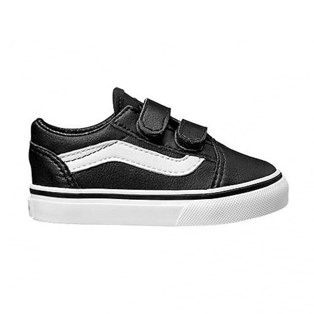 54d06fd7bc Vans Kids Old Skool V Classic Tumble Leather Shoes VA38JNNQR