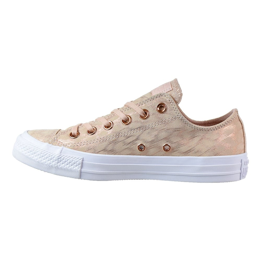5c5cc1fc15c5 ... Converse Womens Shimmer Suede Dusk Pink Rose Gold Trainers ...