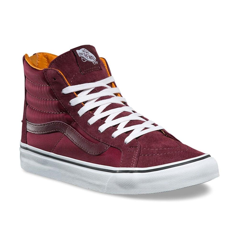 e33a86377b0a Vans Burgundy Boom Boom SK8-Hi Slim Zip Hi Sneakers
