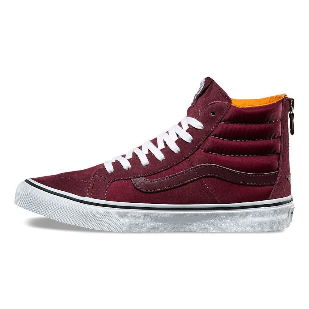 47c943307d19 Vans Burgundy Boom Boom SK8-Hi Slim Zip Hi Sneakers