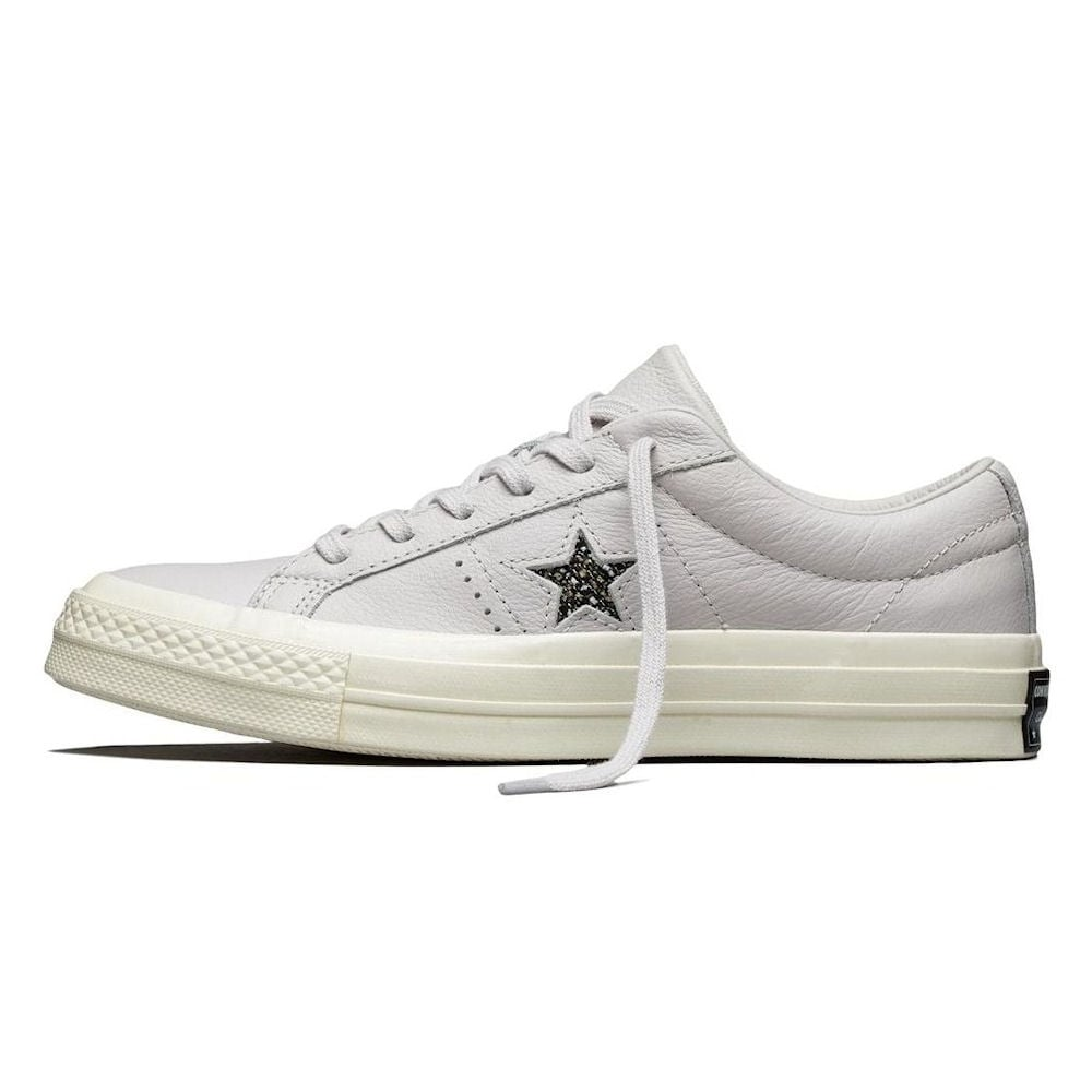 bbb46182921 Converse Women s One Star Ox Low Top Leather Trainers- Off White ...