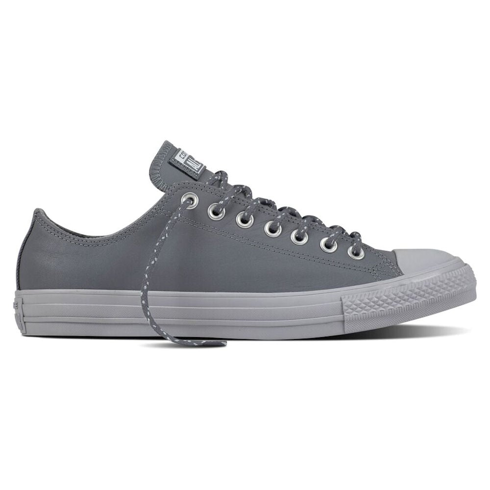 Star Ox Leather Trainers - Grey