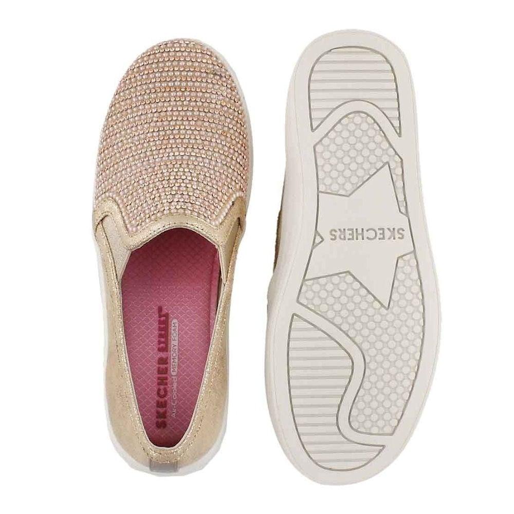86a81961429 Skechers Double Up Shiny Dancer Slip On Rose Gold Sneaker 84999L ...