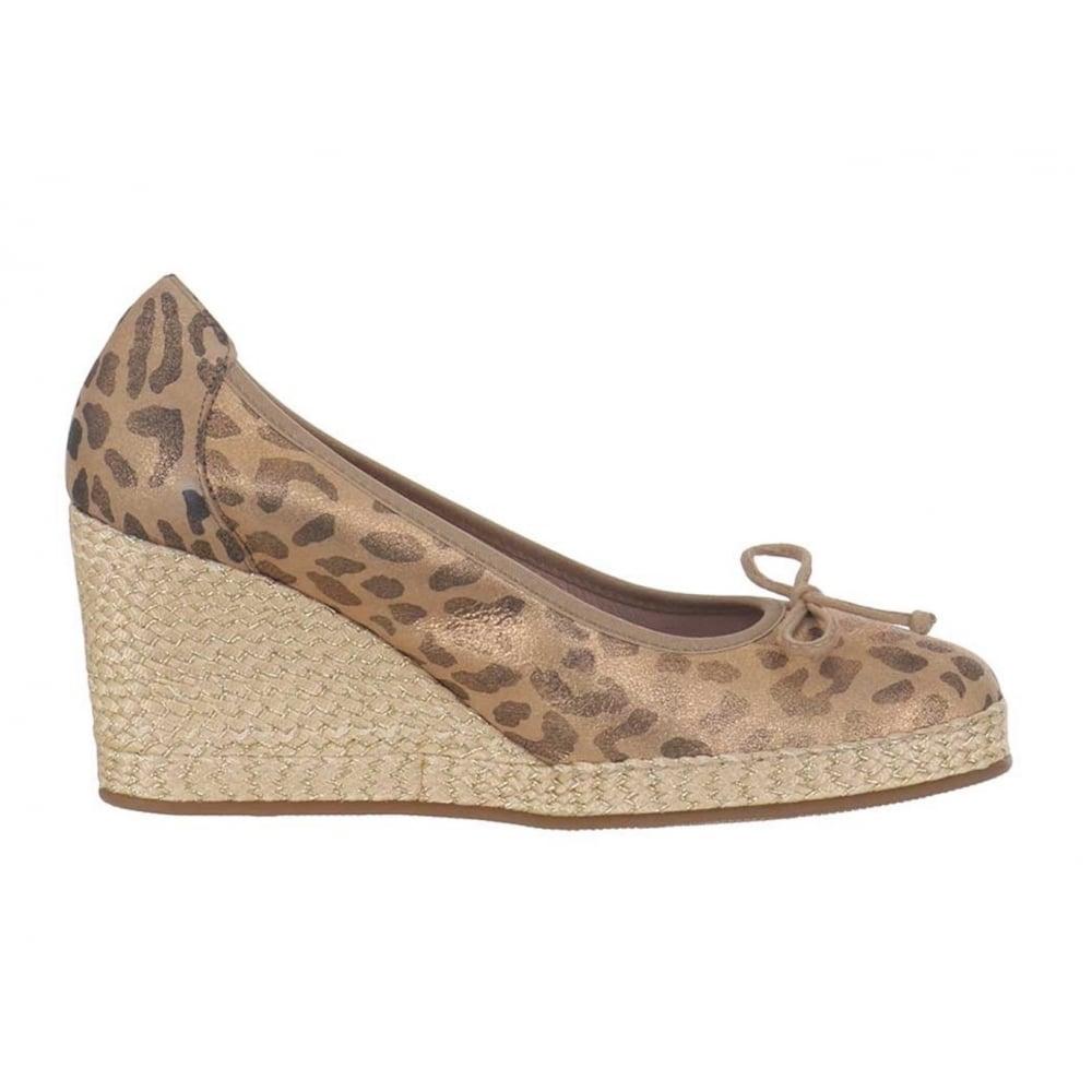 3244fe7896cab Wonders Wedge Pump Shoes - Leopard M-2120 - Millars Shoe Store