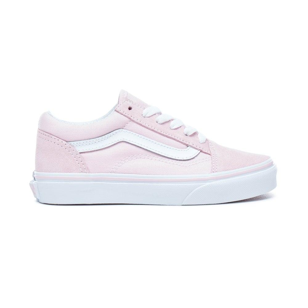 e2b19b9f50 Vans Kids Girls Suede Chalk Pink Old Skool Skater Shoe VA38HBQ7K ...