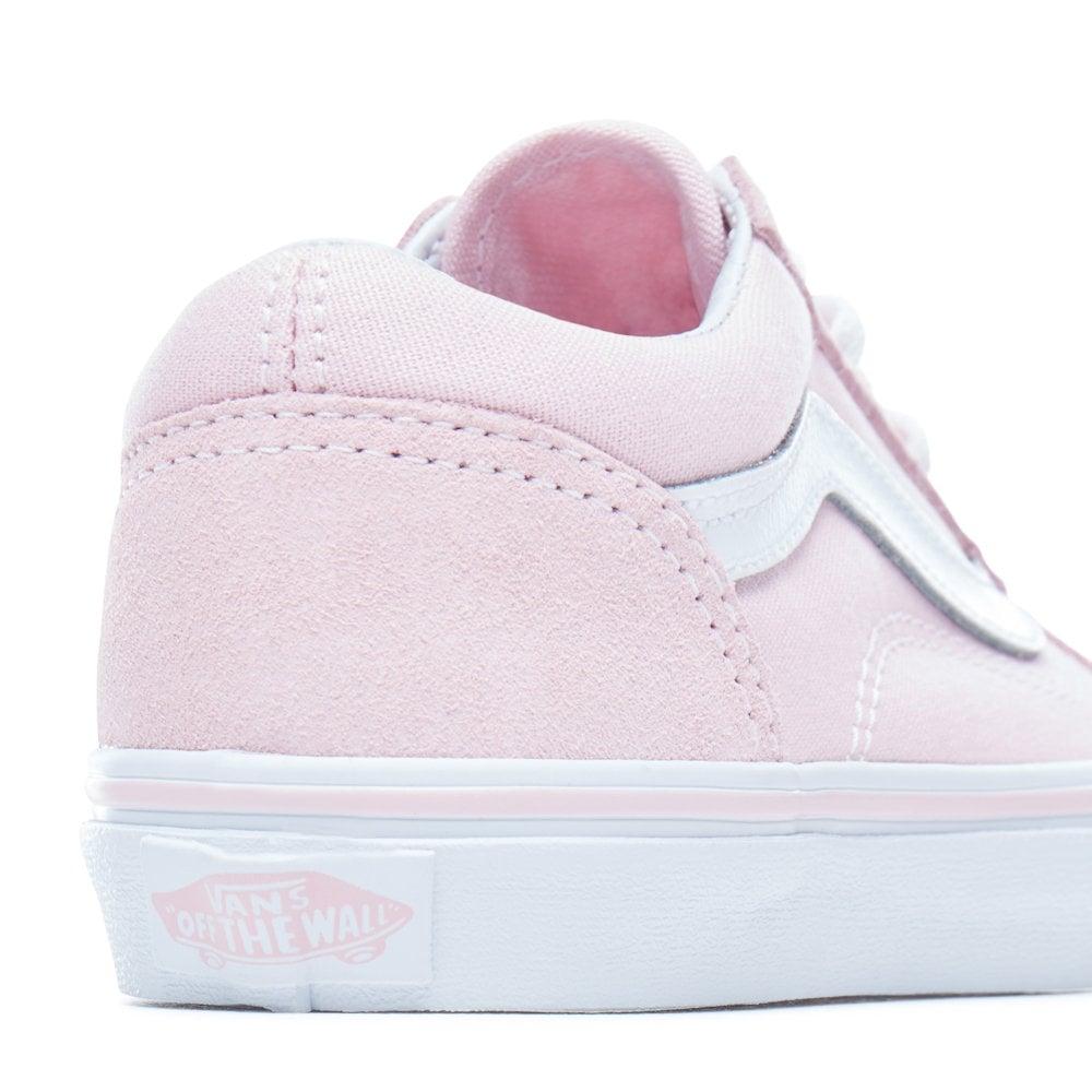 2762a6c1afb8 Vans Kids Girls Suede Chalk Pink Old Skool Skater Shoe VA38HBQ7K ...