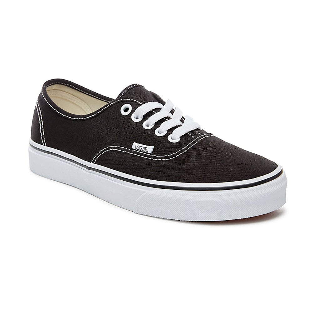 81c91916bb Vans Unisex Authentic Black Lace Up Trainers VEE3BLK   Millars Shoe Store