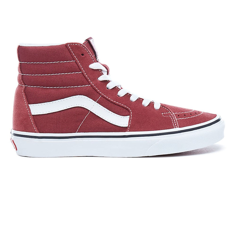 Vans Womens SK8-Hi Wine Red Suede Hi Top Sneakers VA38GEQ9S ... fa579fb07