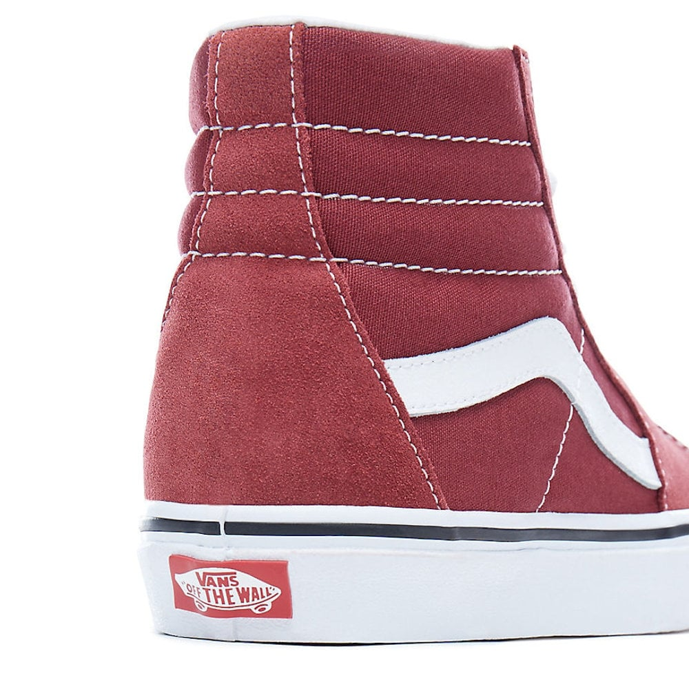 fef68fcd2450 Vans Womens SK8-Hi Wine Red Suede Hi Top Sneakers VA38GEQ9S ...
