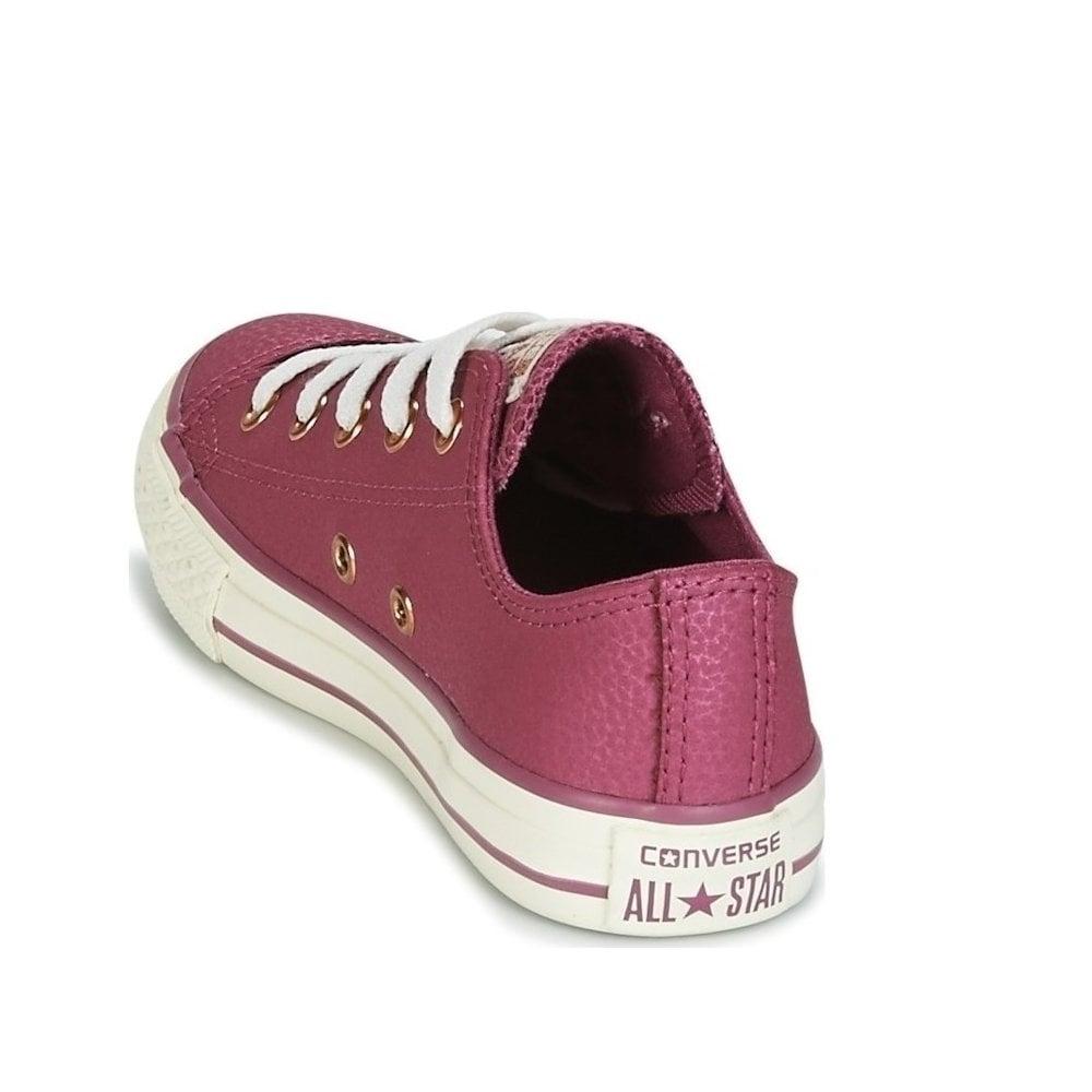 0bc944113bdd ... Converse Kids Chuck Taylor All Star Grade School Leather Shoe - Vintage  Wine ...