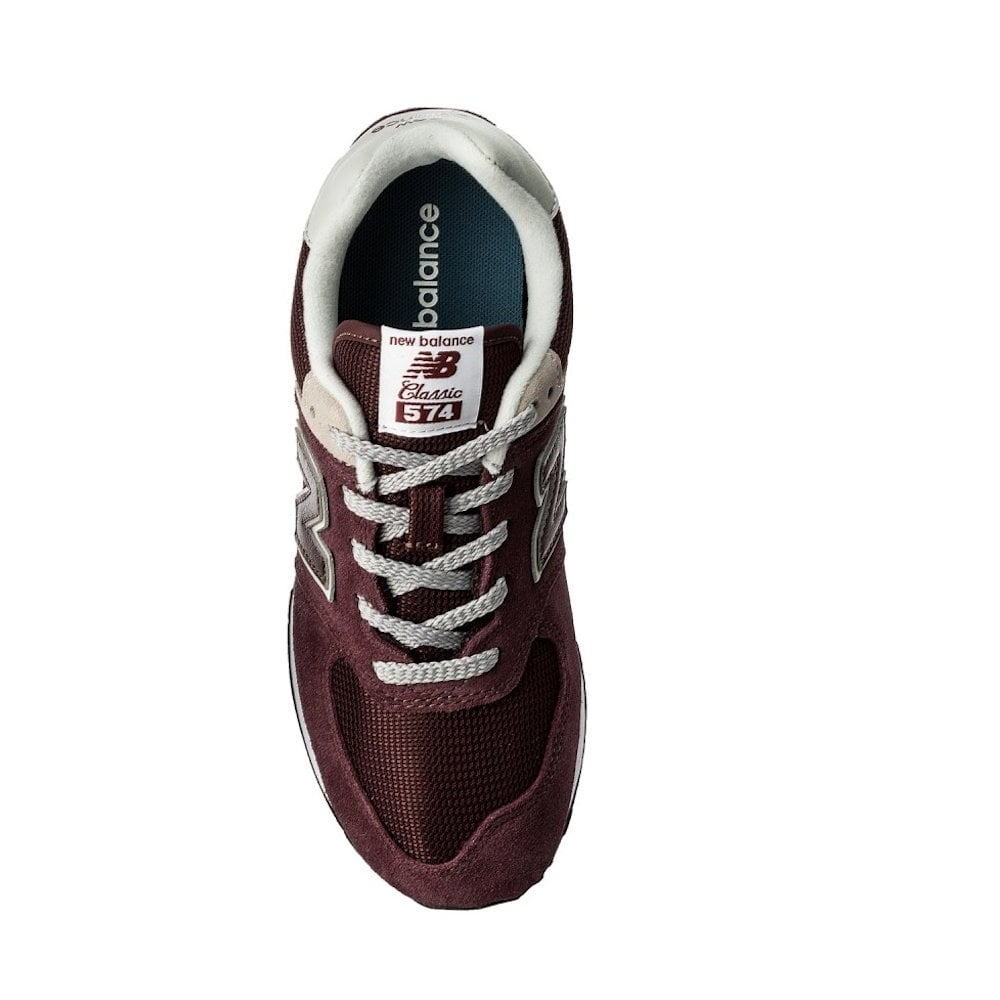 8540dd6cee4 New Balance GC574 Core Plus Suede Burgundy Trainers   Millars Shoe Store