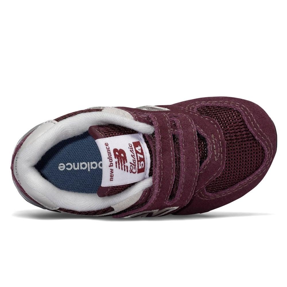 4aca6b3db086b New Balance Infant 574 Core Velcro Suede Burgundy Shoes / Millars ...