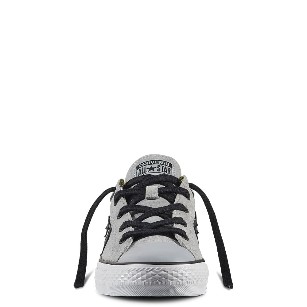d93c7580060 Converse Mens Star Player Camo Suede Grey Black Trainers 159777c ...