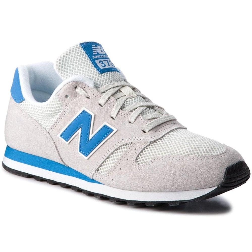 New Balance ML373SWB Urban Grey/Blue Suede Sneakers | NEW BALANCE ...