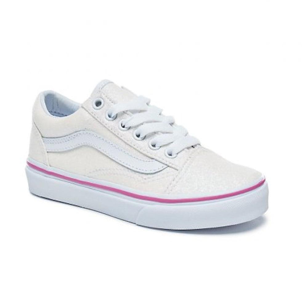 edb98d2a519a Vans Kids Old Skool V Glitter Girls Skate Shoe - 38HBQ7F   Millars ...