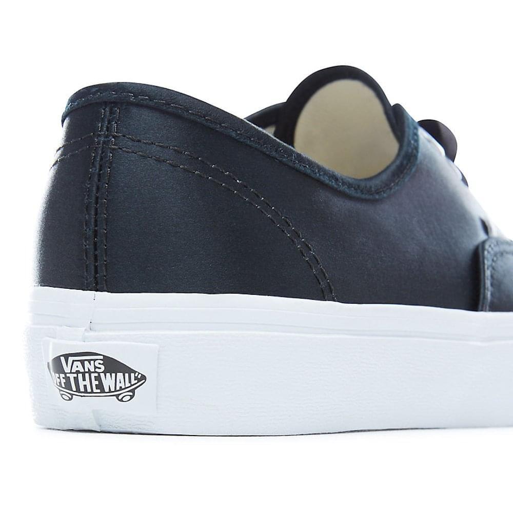 6daac69941 Vans Black Satin Lux Authentic Low Trainers Shoes - 38EMQ9I ...