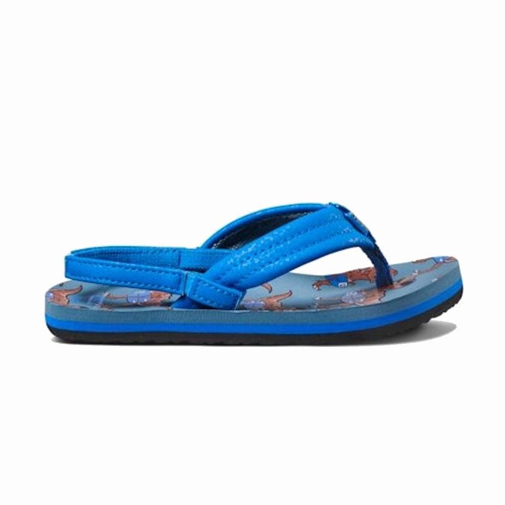 Blue T Rex Boys Reef Ahi Flip Flops